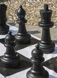Chess outdoors Stock Photography