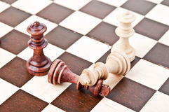 Chess pair on the board Royalty Free Stock Photos