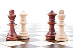 Chess pair isolated Royalty Free Stock Photos