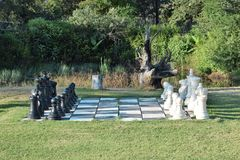 Chess in a park Stock Images