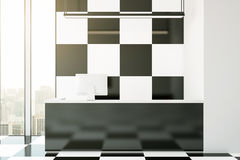 Chess patterned reception Stock Image