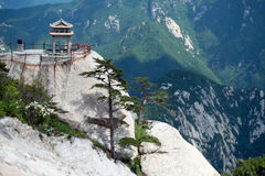 Chess pavilion in Huashan mountain, China Royalty Free Stock Images