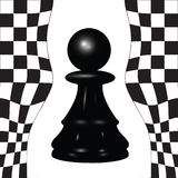 Chess pawn. Chess piece - a black pawn. Vector illustration Royalty Free Stock Photography
