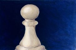 Chess pawn - acrylic painting Stock Images