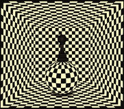 Chess pawn background Royalty Free Stock Images