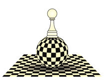 Chess pawn card Royalty Free Stock Images