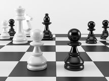 Chess Pawn in Confrontation Royalty Free Stock Photo