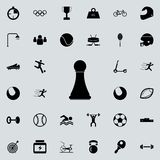 Chess pawn icon. Sport icons universal set for web and mobile. On colored background vector illustration