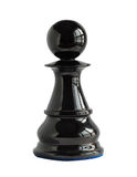 Chess pawn isolated on white royalty free stock photography