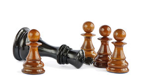 Chess pawn and king Stock Photos