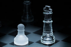 Chess pawn king Stock Photography