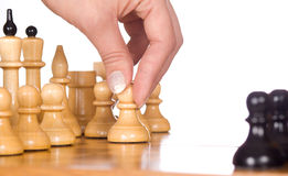 Chess pawn move Royalty Free Stock Images