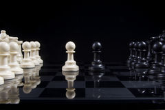 Chess Pawn Stalemate Royalty Free Stock Images