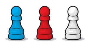 Chess Pawn. Vector illustration of Chess Pawn Stock Image