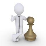 Chess pawn winner Stock Photos