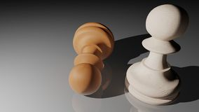 Chess pawn winner Stock Photography