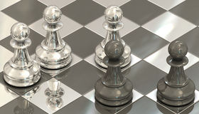 Chess pawns Stock Images