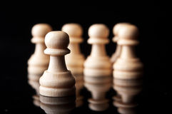 Chess pawns Royalty Free Stock Images