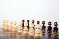 Chess pawns Stock Photo