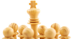 Chess pawns - business leadership  concept Stock Photography