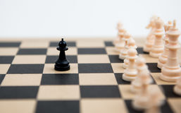 Chess pawns on a chessboard Royalty Free Stock Photography