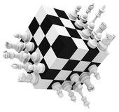 Chess pawns Stock Photos