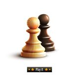 Chess pawns isolated Stock Image