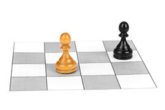 Chess pawns Royalty Free Stock Photo