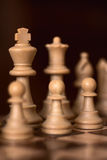 Chess pawns in row Stock Image