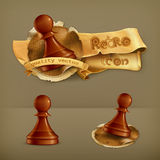 Chess Pawns, vector icons Stock Photo