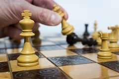 Chess. Photographed on a  board Stock Photography