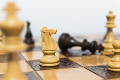 Chests and chessboard Royalty Free Stock Photography