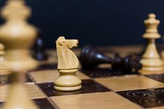 Chests and chessboard Royalty Free Stock Photos