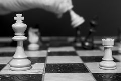 Chests and chessboard Stock Photography