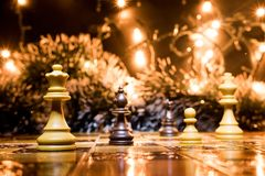 Chests and chessboard Stock Image