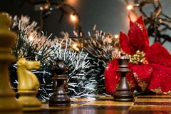 Chests and chessboard Royalty Free Stock Images
