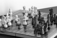 Chess. Photographed on a board Royalty Free Stock Photos