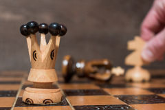 Chess. Photographed on a board Stock Image