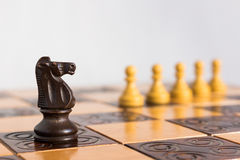 Chess photographed on a chessboard. Chess photographed on a chess board during game Royalty Free Stock Images