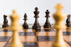 Chess photographed on a chessboard. Chess photographed on a chess board during game Stock Photos