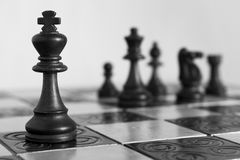 Chess photographed on a chessboard. Chess photographed on a chess board during game Stock Photography