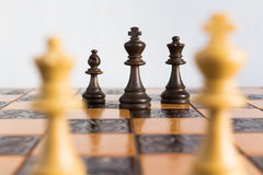 Chess photographed on a chessboard. Chess photographed on a chess board during game Royalty Free Stock Photo