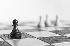 Chess photographed on a chessboard. Chess photographed on a chess board during game Stock Photo
