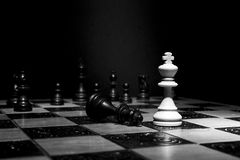 Chess photographed on a chessboard. Chess photographed on a chess board during game Stock Image