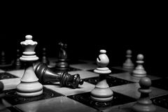 Chess photographed on a chessboard. Chess photographed on a chess board during game Stock Images
