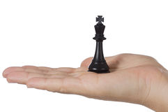 A chess piece. A photo of a chess piece a over white background stock photography