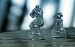 Chess piece. Closeup on board stock images