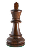 Chess piece - black king. Photo of a single chess piece - a black king. The chess piece is isolated on white and a clipping path is provided for easy extraction stock images