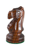 Chess piece - black knight Stock Photos