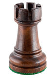 Chess piece - black rook Stock Image